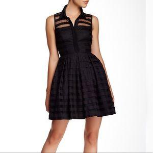 Trina Turk 'Ashley' Sheer Pleated Dress